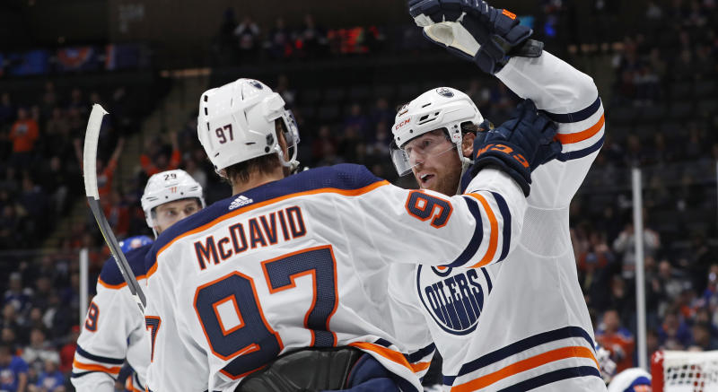 With their win over the New York Rangers, the Edmonton Oilers made NHL history. (AP Photo/Kathy Willens)