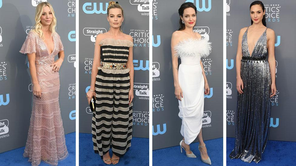 <p>Colour returns to the red carpet for Critics' Choice</p>