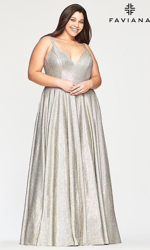 """<h2>Faviana Glitter Dress With Pockets In Silver & Gold</h2><br>Shimmer down the aisle in a liquid metallic gown that combines silver and gold, for a mercurial finish that offers the best of both worlds.<br><br><em>Shop <strong><a href=""""https://www.simplydresses.com/"""" rel=""""nofollow noopener"""" target=""""_blank"""" data-ylk=""""slk:Simply Dresses"""" class=""""link rapid-noclick-resp"""">Simply Dresses</a></strong></em><br><br><strong>Faviana</strong> Silver and Gold Glitter Dress with Pockets, $, available at <a href=""""https://go.skimresources.com/?id=30283X879131&url=https%3A%2F%2Fwww.simplydresses.com%2Fshop%2Fviewitem-PD2345463"""" rel=""""nofollow noopener"""" target=""""_blank"""" data-ylk=""""slk:Simply Dresses"""" class=""""link rapid-noclick-resp"""">Simply Dresses</a>"""