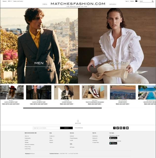 MatchesFashion.com is a London-based global luxury retailer for both men and women.