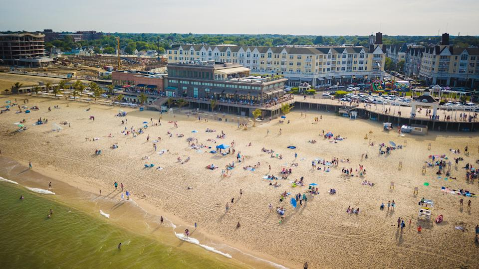 Aerial View of Pier Village Long Branch.
