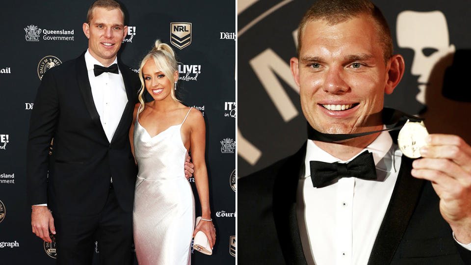 Tom Trbojevic and Kristi Wilkinson, pictured here at the Dally M awards.