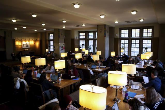A study room of the University of Michigan Union. (Hunter Dyke/The Ann Arbor News via AP)