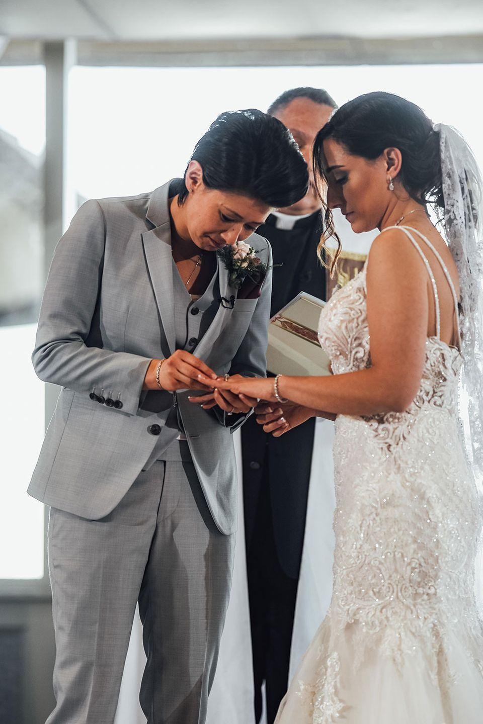 <p>Jackie and Lisa hit it off right away after meeting at a birthday party on the Jersey Shore. They got engaged on a trip to Hawaii and married in May 2019.</p>
