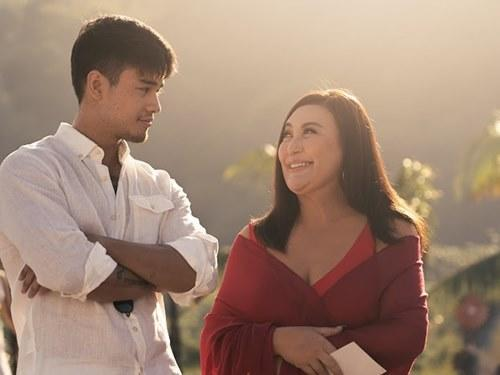 Sharon with co-star Marco Gumaba in 'Revirginized'