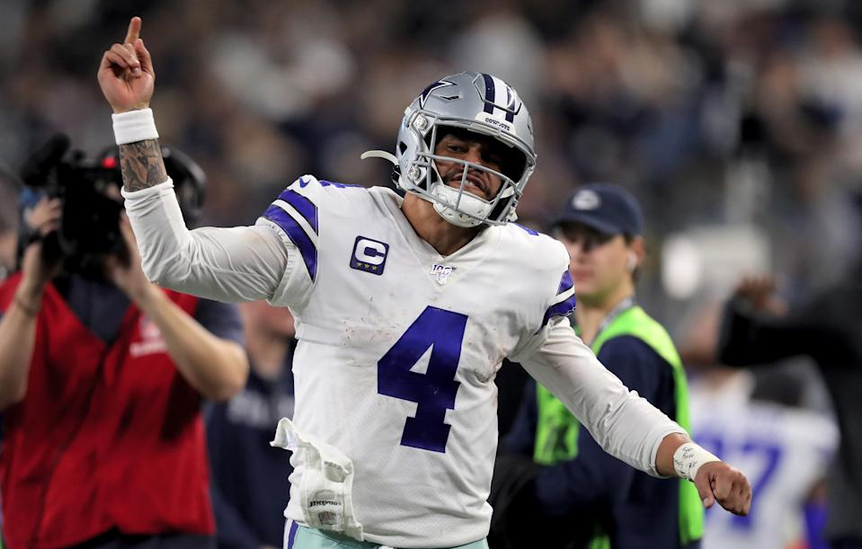 Dak Prescott signed his franchise tag with the Cowboys on Monday. (Photo by Tom Pennington/Getty Images)
