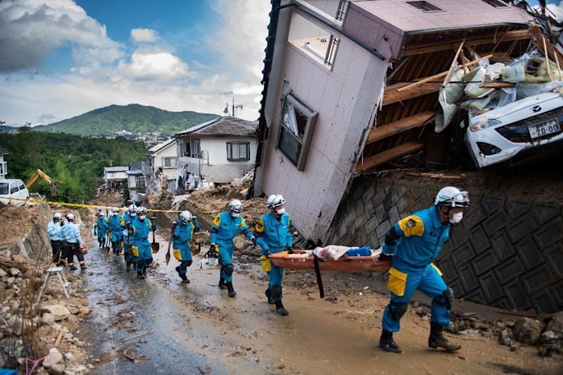 Japan has suffered a series of deadly natural disasters this summer (AFP Photo/Martin BUREAU)
