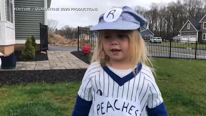 4-year-old girl stars in remakes of iconic movie scenes during quarantine