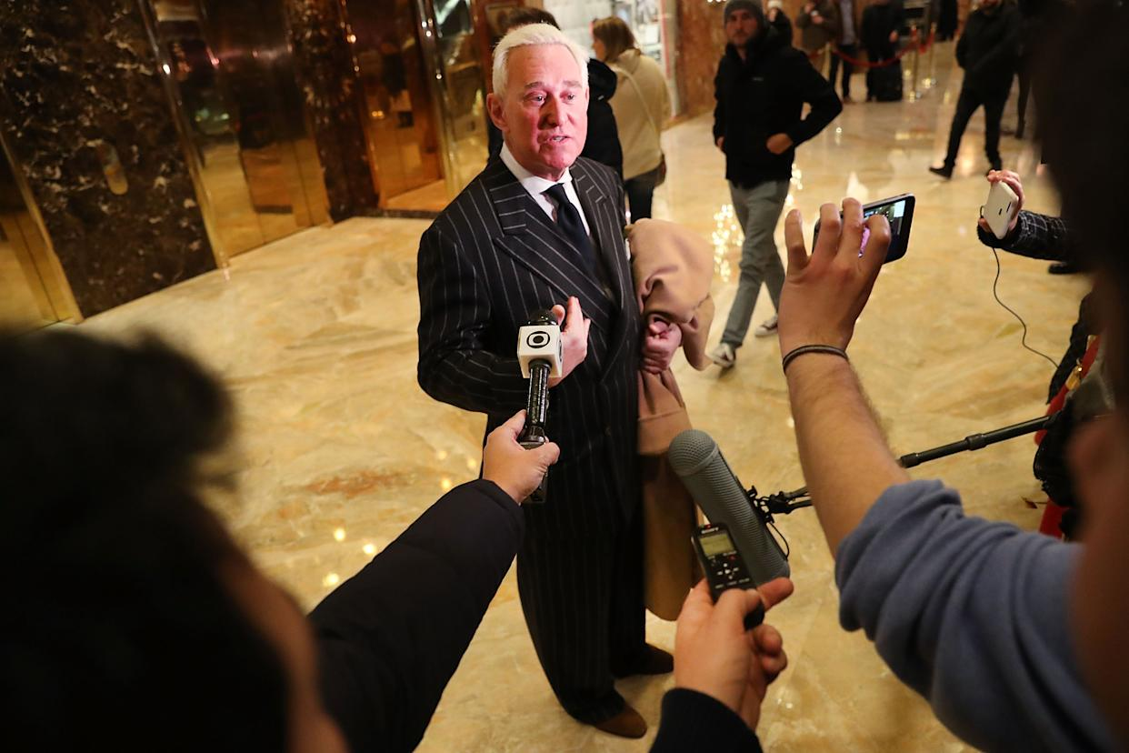 Roger Stone at Trump Tower, Dec. 6, 2016. (Photo: Spencer Platt/Getty Images)