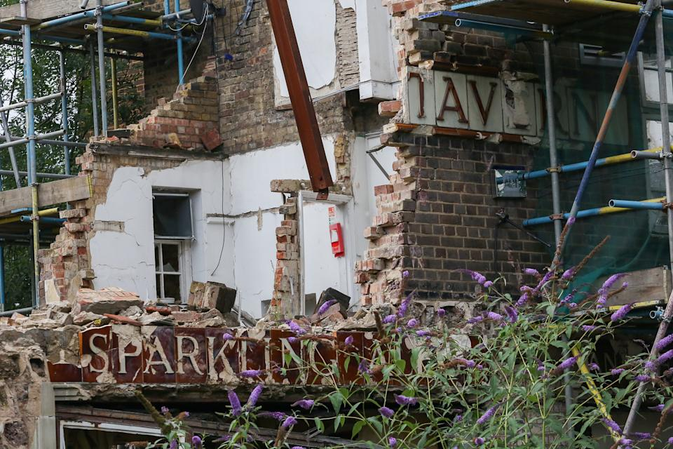 The developer, Israeli firm CTLX, was ordered to rebuild the pub within 18 months. (SWNS)