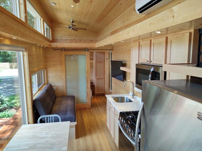 The inside of a tiny home.