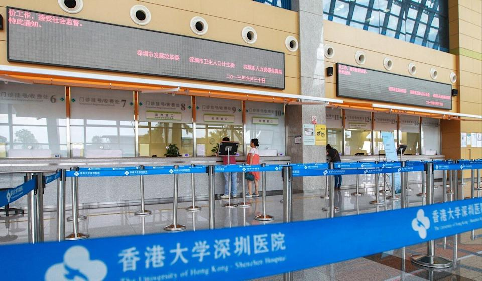Those joining the scheme will need to pay 100 yuan for each consultation at the Shenzhen hospital. Photo: SCMP