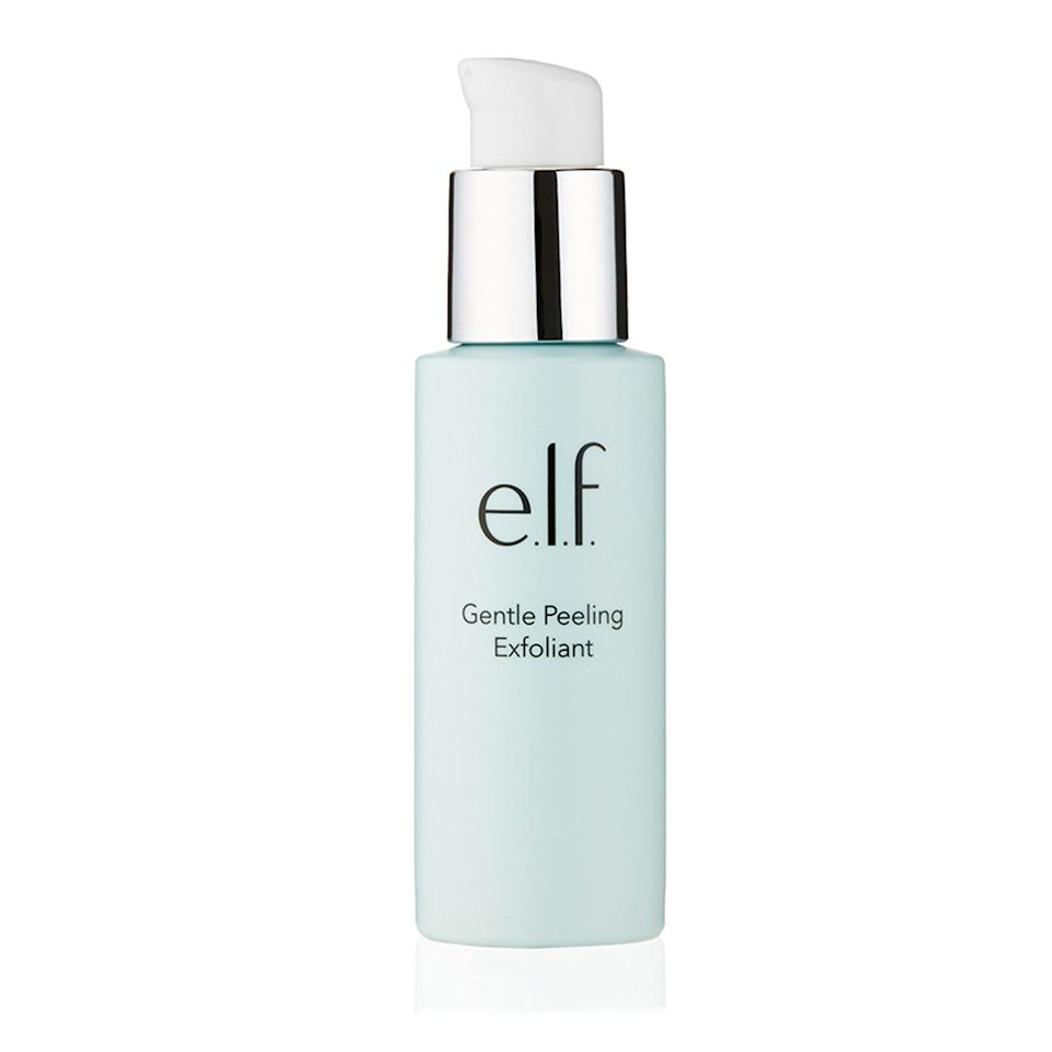 """<p>If you've never experienced the wonders of a peeling gel, allow this <a href=""""https://www.allure.com/review/elf-gentle-peeling-exfoliant?mbid=synd_yahoo_rss"""" rel=""""nofollow noopener"""" target=""""_blank"""" data-ylk=""""slk:Best of Beauty winner"""" class=""""link rapid-noclick-resp"""">Best of Beauty winner</a> to be your introduction. Straight out of the pump, it looks like a clear gel. However, when you start rubbing it onto skin, it turns into little balls. Why? The Gentle Peeling Exfoliant picks up the dead skin cells and other grime on your face and rolls it up like eraser dust. It's incredibly satisfying and leaves skin smooth and radiant.</p> <p><strong>$10</strong> (<a href=""""https://shop-links.co/1622750191085863450"""" rel=""""nofollow noopener"""" target=""""_blank"""" data-ylk=""""slk:Shop Now"""" class=""""link rapid-noclick-resp"""">Shop Now</a>)</p>"""