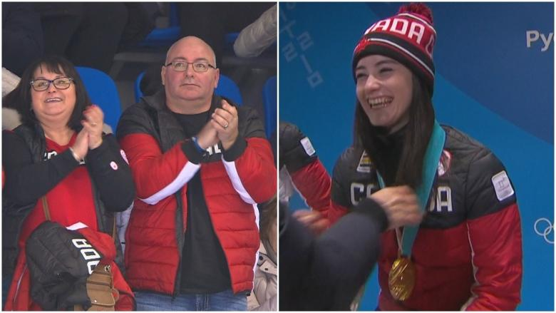 Older sister cheers on Kaetlyn Osmond in skate for another Olympic medal