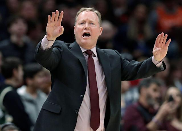 Mike Budenholzer was recognized by his peers for the job he did with the Bucks this season. (AP Photo/Tony Dejak)