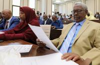 Somalia legislators are seen inside the lower house of Parliament in Mogadishu