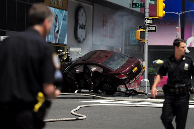 Times Square crash: Driver charged with murder after allegedly killing one and wounding 22
