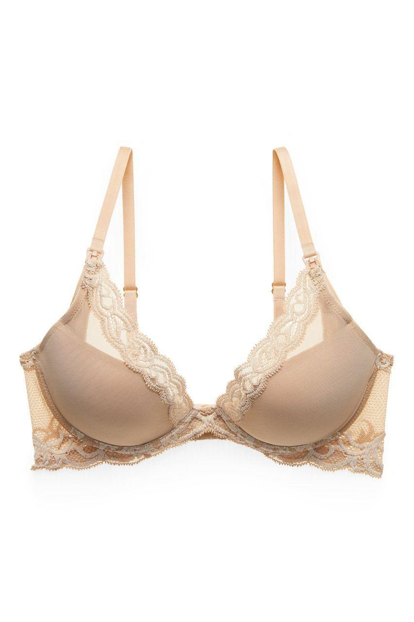 """<p><strong>Natori</strong></p><p>amazon.com</p><p><strong>$68.00</strong></p><p><a href=""""https://www.amazon.com/dp/B07T9T6XJJ?tag=syn-yahoo-20&ascsubtag=%5Bartid%7C10055.g.22789092%5Bsrc%7Cyahoo-us"""" rel=""""nofollow noopener"""" target=""""_blank"""" data-ylk=""""slk:Shop Now"""" class=""""link rapid-noclick-resp"""">Shop Now</a></p><p>Natori is a top performer in our <a href=""""https://www.goodhousekeeping.com/clothing/bra-reviews/a28436305/best-bra-brands/"""" rel=""""nofollow noopener"""" target=""""_blank"""" data-ylk=""""slk:non-nursing bra tests"""" class=""""link rapid-noclick-resp"""">non-nursing bra tests</a> thanks to its comfort, fit, support and stay-in-place capabilities. Fortunately for nursing moms everywhere, the brand makes several styles with clip-down access to breastfeed. This one's plunge so you can wear it under low-cut tops, but it still has good coverage with padded cups and an underwire.<strong> It </strong><strong>looks cute and feels <em>just</em> like a regular bra</strong> so you can even continue to wear it after your breastfeeding days are over. And if you're looking to avoid underwires, the brand also has a <a href=""""https://www.amazon.com/Natori-Womens-Maternity-Bliss-Perfection/dp/B07M6CWP6G?tag=syn-yahoo-20&ascsubtag=%5Bartid%7C10055.g.22789092%5Bsrc%7Cyahoo-us"""" rel=""""nofollow noopener"""" target=""""_blank"""" data-ylk=""""slk:wireless nursing style"""" class=""""link rapid-noclick-resp"""">wireless nursing style</a>.</p>"""