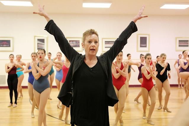 This image released by Starpix shows Linda Haberman, Director and Choreographer, Radio City Christmas Spectacular directing dancers at an audition with the Rockettes, Tuesday, April 30, 2013 at Radio City Music Hall in New York. Hundreds of young women from around the country are vying to appear with The Rockettes at the 2013 Radio City Christmas Spectacular. The aspiring dancers lined up Tuesday outside Radio City Music Hall for the open audition. Those who make it will return for the show that runs from Nov. 8 to Dec. 30. (AP Photo/Starpix, Amanda Schwab)