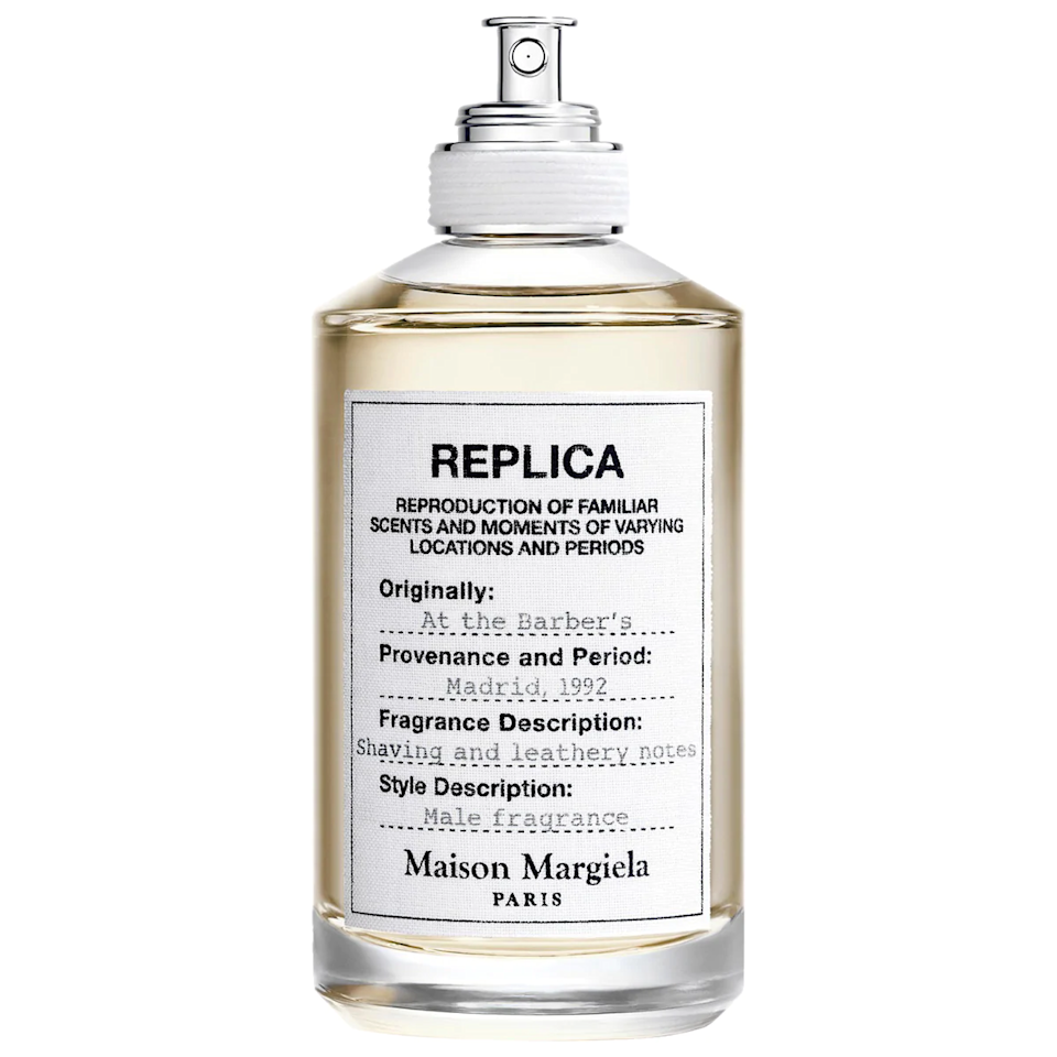 """It's time he graduates from his Axe and Drakkar Noir bottles. Start him off on the right foot with Maison Margiela's """"At the Barber's"""" scent. <br><br><strong>Maison Margiela</strong> 'REPLICA' At The Barber's, $, available at <a href=""""https://go.skimresources.com/?id=30283X879131&url=https%3A%2F%2Fwww.sephora.com%2Fproduct%2Fat-barber-shop-P394151%3Ficid2%3Dproducts%2520grid%3Ap394151"""" rel=""""nofollow noopener"""" target=""""_blank"""" data-ylk=""""slk:Sephora"""" class=""""link rapid-noclick-resp"""">Sephora</a>"""