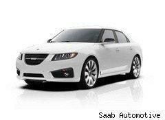 The new Saab 9-5, the first new Saab model since 2002