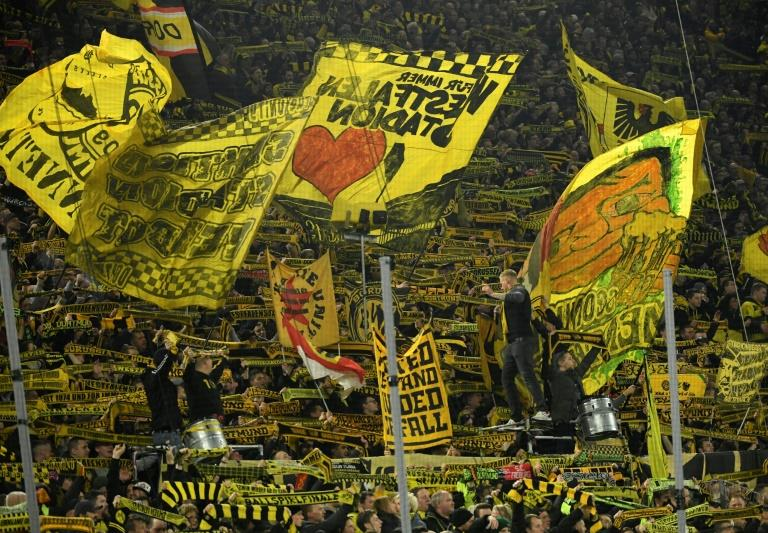 """Borussia Dortmund's """"Yellow Wall"""" -- the South Stand at Signal Iduna Park -- has been described as a 'gigantic monster' ready to intimidate opposing teams"""