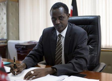 Ethics and Anti-Corruption Commission (EACC) CEO Halakhe Waqo poses in his office in the capital Nairobi