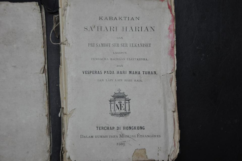 The title page of the 'Kabaktian Sahari-harian' (Daily Prayer) sent to Father Lawrence Andrew. – The Malaysian Insider pic, January 7, 2014.