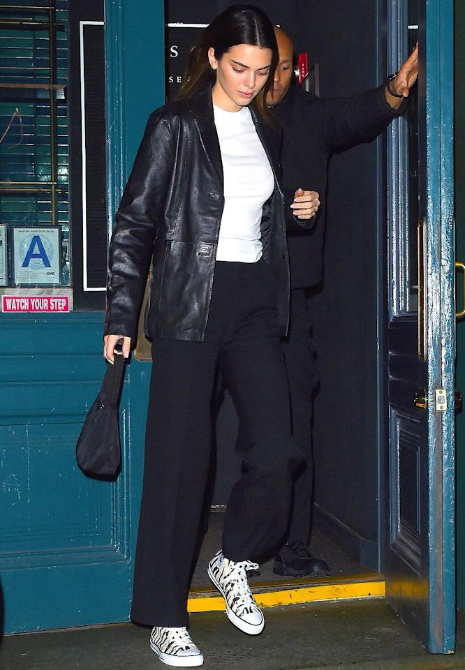 """<a href=""""https://www.chefsclub.com/""""><strong>Chefs Club</strong></a>  <strong>New York City</strong>  The<a href=""""http://people.com/tag/kendall-jenner/""""><em>Keeping Up With the Kardashians</em>star and model</a> was spotted at the end of New York Fashion Week <a href=""""https://www.instagram.com/p/B8toLipFTDY/"""">leaving the fine dining restaurant</a> — which is famous for its rotating residency format — with her model friend <a href=""""https://people.com/celebrity/who-is-in-kylie-jenners-friend-group/justine-skye/"""">Justine Skye</a>. The chefs-in-residence while Jenner was there were from the famous Florentine restaurant <a href=""""https://www.osteriadelletrepanche.com/en"""">Osteria della Tre Panche</a>. They are known for serving some of the best truffles in Florence."""