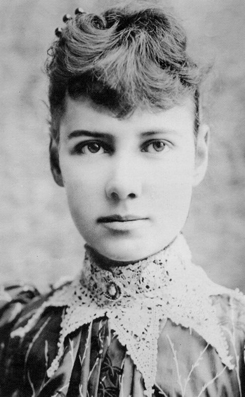 <p>Nellie is credited with being the first female war reporter to enter the front lines. She was an American journalist famed for investigative journalism – especially for her 1887 exposé of Blackwell's Island asylum in which she posed as a patient. Born as Elizabeth Cochran, her journalistic career started with a fiery letter written in response to a sexist piece published by the <i>The Pittsburgh Dispatch</i>. She was offered a position and subsequently changed her name to Nellie Bly. Moving to New York, she was sent around the world in an attempt to break the fictional <i>Around the World in Eighty Days</i> record. She did in fact set a world record, completing the trip in 72 days. <i>[Photo: nellieblyonline.com]</i> </p>