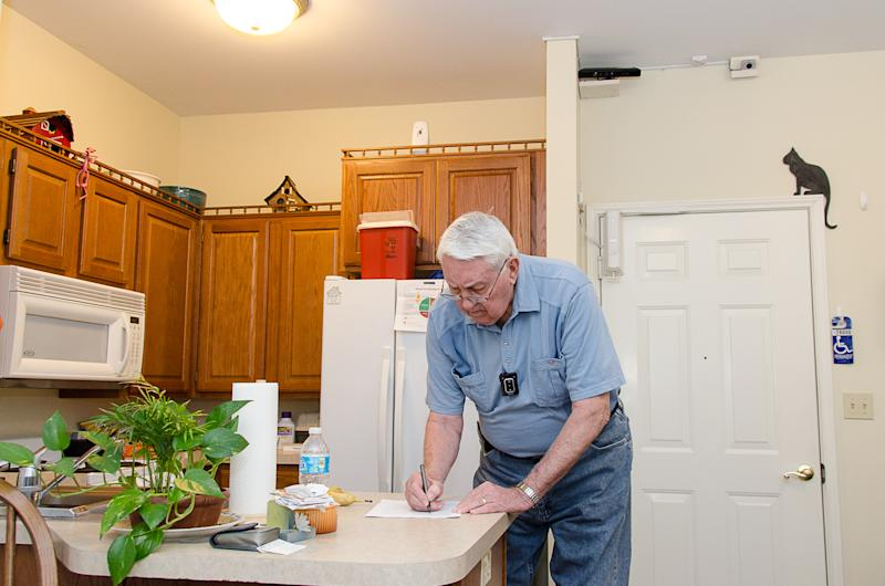 Testing sensors as safety net for seniors at home