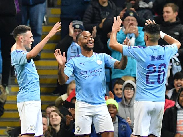 Raheem Sterling powered Manchester City to another Champions League victory: AFP via Getty