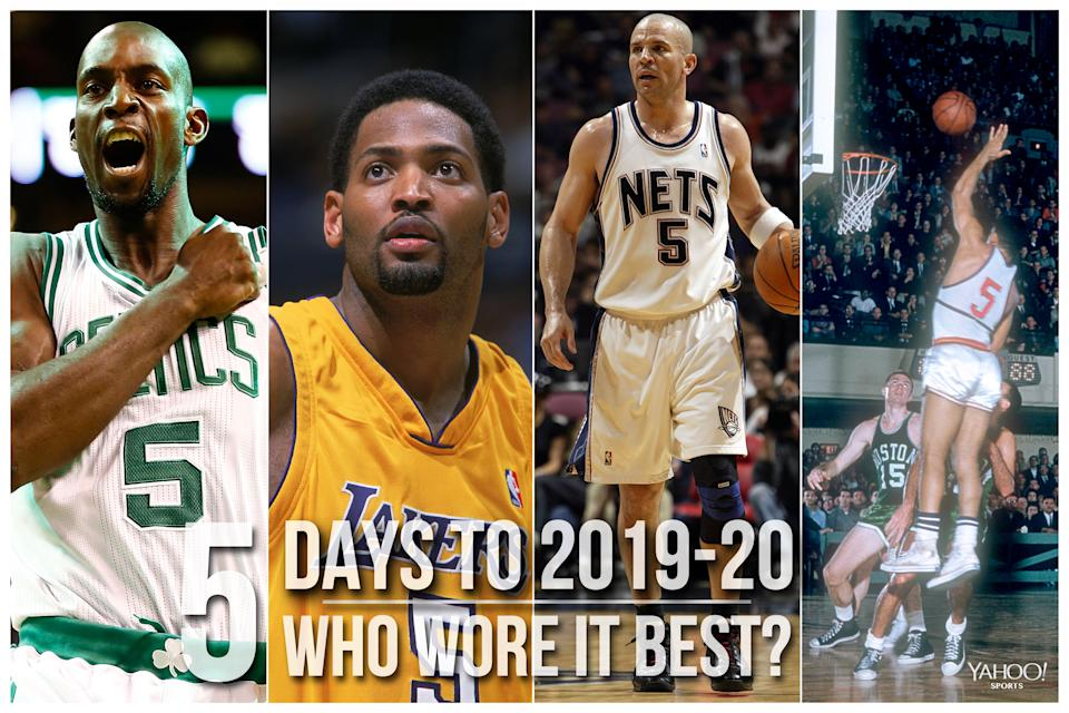 Which NBA player wore No. 5 best?