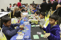 <p>A Pokémon tournament in session at the Asia Game Festival 2018. (PHOTO: Don Wong) </p>