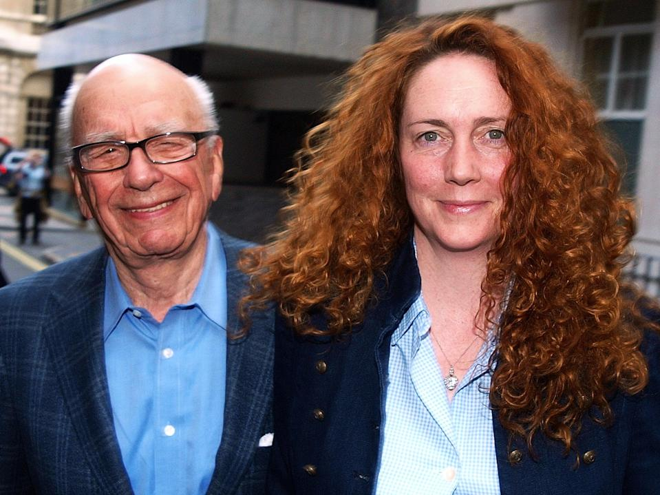 News UK CEO Rebekah Brooks and Rupert Murdoch are pictured together in London in 2011 (AFP via Getty Images)