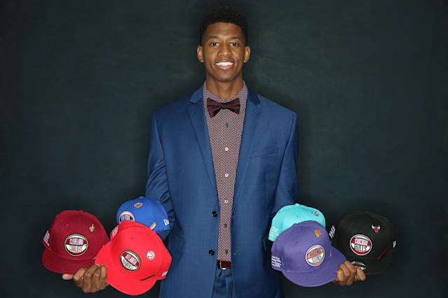 CHICAGO, IL - MAY 14: NBA Draft Prospect, Jarrett Culver poses for a portrait at the 2019 NBA Draft Lottery on May 14, 2019 at the Chicago Hilton in Chicago, Illinois. (Photo by David Sherman/NBAE via Getty Images)