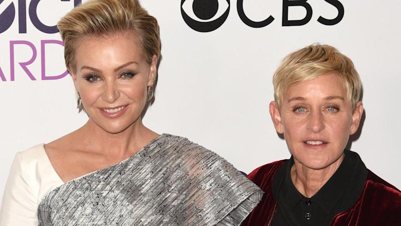 Ellen DeGeneres and Portia de Rossi Evacuate California Home Amid Wildfire Threat