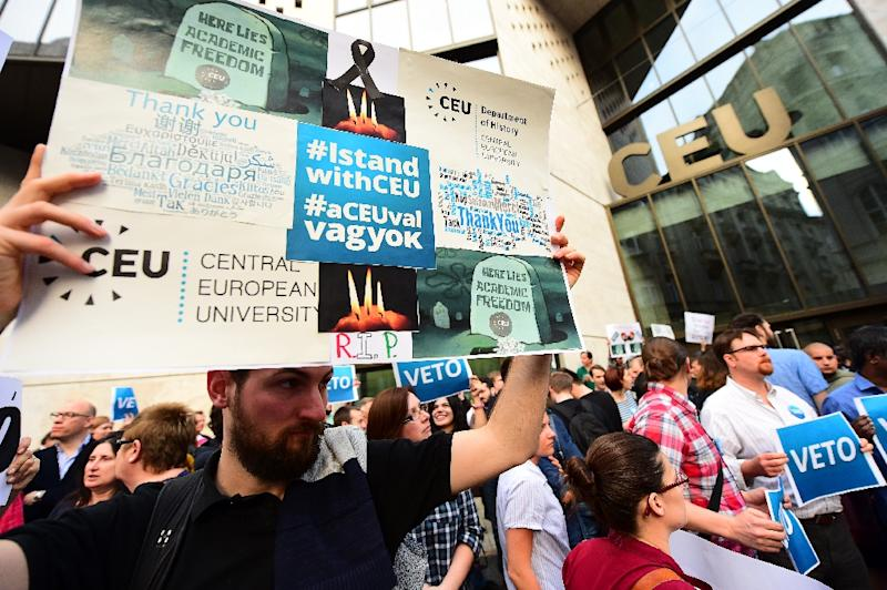Budapest's Central European University (CEU), long eyed with suspicion by Hungarian Prime Minister Viktor Orban as a hotbed of liberalism, has warned it may have to close as a result of legislation targeting foreign-registered universities (AFP Photo/ATTILA KISBENEDEK)