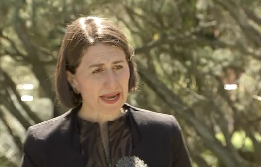Gladys Berejiklian said she is 'very pleased' with NSW's current position. Source: Nine News