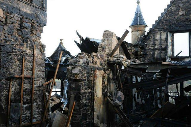Internal damage to the hotel