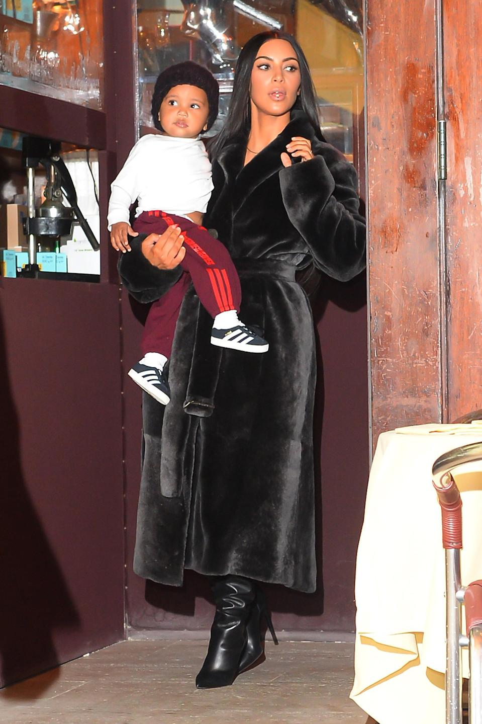 <p>Although Kimye have never actually explained the meaning behind their son's name, fans have speculated that it could be because it was a 'blessing' to have a healthy baby at the end of Kim's tricky second pregnancy; she suffered from pre-eclampsia.<br>Another theory is that the moniker pays tribute to Kim's late father who she considered to be a 'Saint.'<br><em>[Photo: Getty]</em> </p>