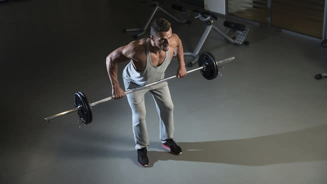 Wide Grip Dumbbell Row