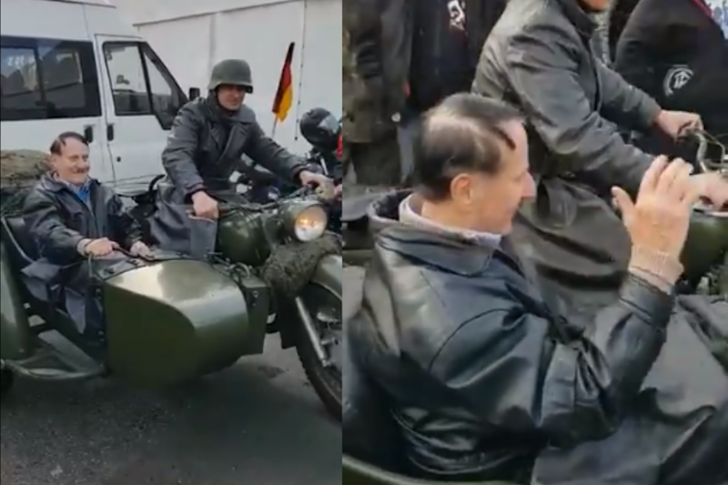 German Police Are Looking For a Man Dressed as Hitler and Riding on a Motorcycle