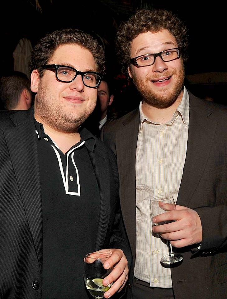 """""""Superbad's"""" Jonah Hill and Seth Rogen prove that 2007 was the Year of the Geek. Lester Cohen/<a href=""""http://www.wireimage.com"""" target=""""new"""">WireImage.com</a> - December 5, 2007"""