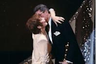 "<p>Shirley Maclaine got a congratulatory hug from Rock Hudson as he presented her with the Best Actress Oscar for <em><a href=""https://www.amazon.com/dp/B0012UHSDY?ref=sr_1_1_acs_kn_imdb_pa_dp&qid=1547579870&sr=1-1-acs&autoplay=0&tag=syn-yahoo-20&ascsubtag=%5Bartid%7C10055.g.5132%5Bsrc%7Cyahoo-us"" rel=""nofollow noopener"" target=""_blank"" data-ylk=""slk:Terms of Endearment"" class=""link rapid-noclick-resp"">Terms of Endearment</a>, </em>which also <a href=""https://www.goodhousekeeping.com/life/entertainment/g3640/movies-from-80s-90s/"" rel=""nofollow noopener"" target=""_blank"" data-ylk=""slk:took home four other awards"" class=""link rapid-noclick-resp"">took home four other awards</a> that night.</p>"