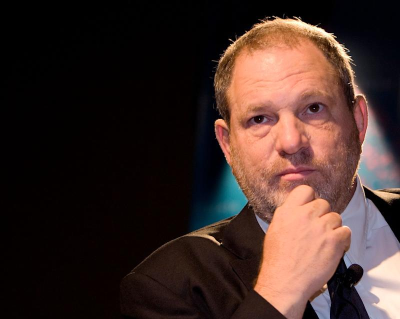 Harvey Weinstein was fired on Sunday from the company he co-founded.