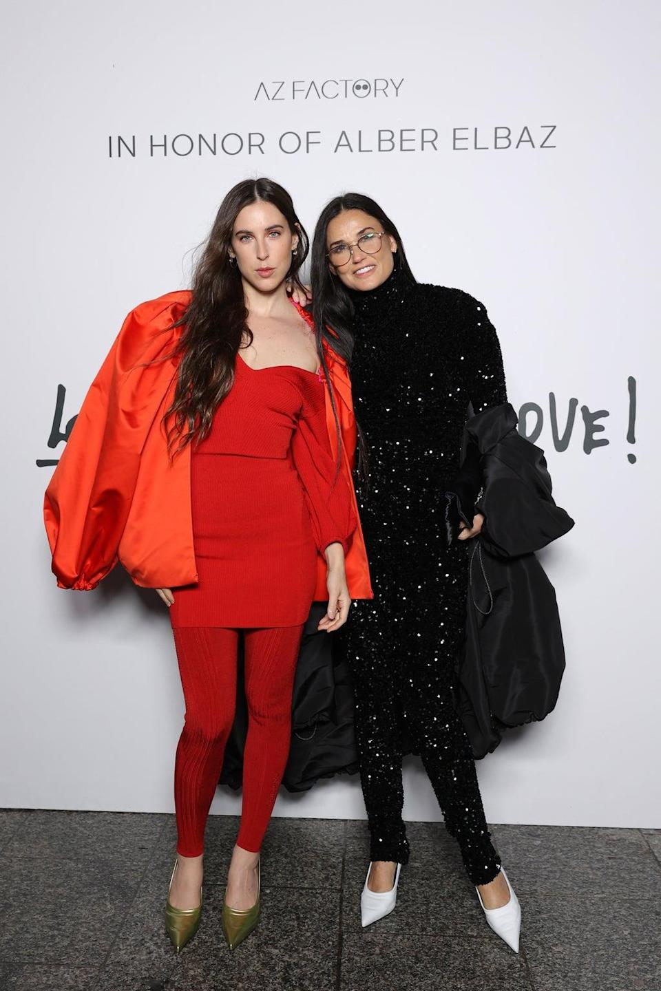 Scout LaRue Willis and Demi Moore (Getty Images For AZ Factory)