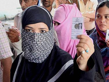 Muslims voting. Representational image. PTI