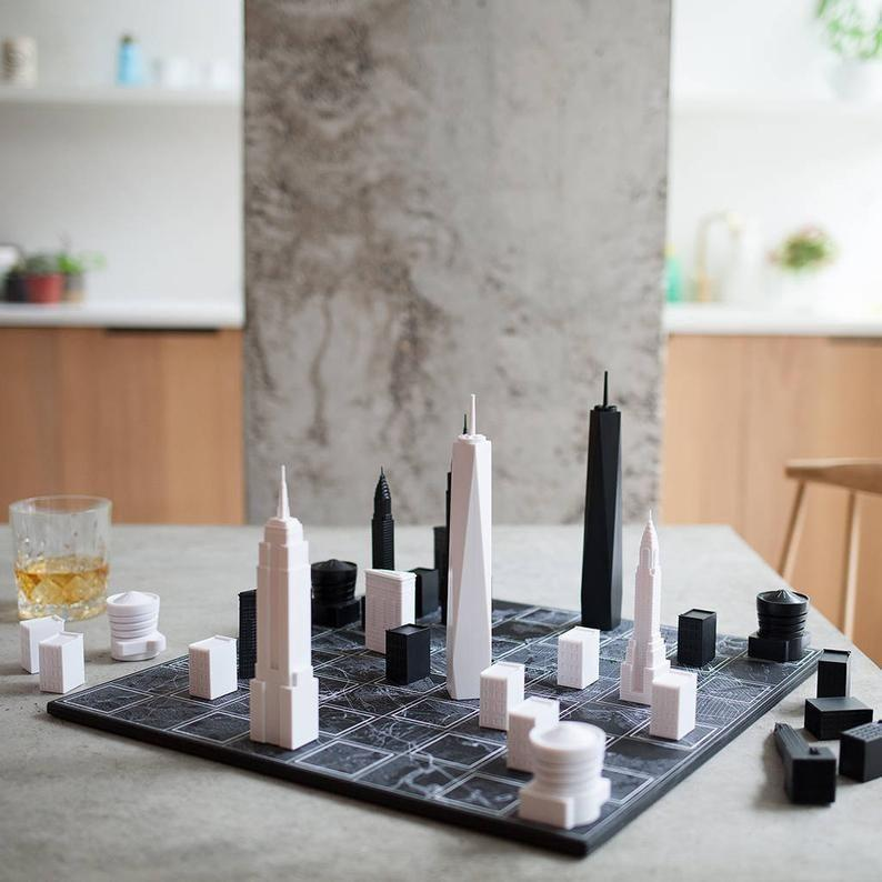 """<p><strong>SkylineChess</strong></p><p>etsy.com</p><p><strong>$165.00</strong></p><p><a href=""""https://go.redirectingat.com?id=74968X1596630&url=https%3A%2F%2Fwww.etsy.com%2Flisting%2F665283628%2Fnew-york-city-architectural-chess-set&sref=https%3A%2F%2Fwww.seventeen.com%2Flife%2Fg23515577%2Fcool-gifts-for-teen-boys%2F"""" rel=""""nofollow noopener"""" target=""""_blank"""" data-ylk=""""slk:Shop Now"""" class=""""link rapid-noclick-resp"""">Shop Now</a></p>"""