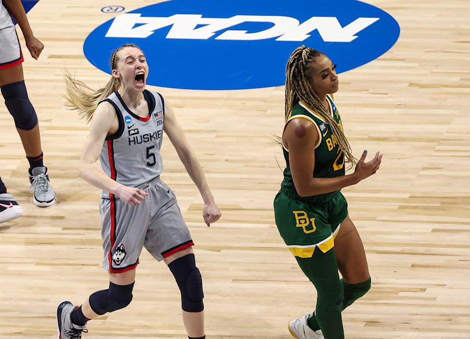 UConn Huskies guard Paige Bueckers (5) helped her team reach the women's Final Four during her freshman season.